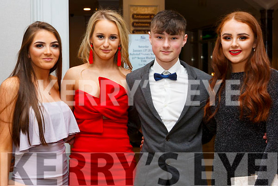 Attending the Ballyduff GAA Social in the Rose Hotel on Saturday night last, Sarah Kennelly, Chloe Boyle, Aiden O'Connor and Emma O'Connor.