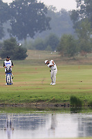 Alexander Levy (FRA) plays into the 15th green during Saturday's Round 3 of the Porsche European Open 2018 held at Green Eagle Golf Courses, Hamburg Germany. 28th July 2018.<br /> Picture: Eoin Clarke | Golffile<br /> <br /> <br /> All photos usage must carry mandatory copyright credit (&copy; Golffile | Eoin Clarke)