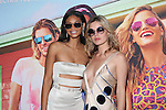 Victoria Secret Angel, Sports Illustrated Swimsuit Model and Actress Chanel Iman and Sunglass Spokes Model and Mick Jagger Daughter Georgia May Jagger at the Sunglass Hut Electric Summer Campaign Kick-Off‏ Held at Industry Kitchen