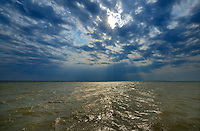 Stormy skies on South Basin of Lake Winnipeg<br /> South Basin of Lake Winnipeg<br /> Manitoba<br /> Canada