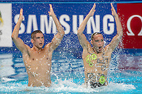 FLAMINI Manila MINISINI Giorgio ITA Italy<br /> Kazan Arena Synchro Sincro Mixed Duet Technical Final<br /> Day03 26/07/2015<br /> XVI FINA World Championships Aquatics Swimming<br /> Kazan Tatarstan RUS July 24 - Aug. 9 2015 <br /> Photo G.Scala/Deepbluemedia/Insidefoto