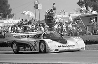 #67 Porsche 962  of Jim Busby, John Morton and Jochen Mass races to 26th place finish in the 12 Hours of Sebring, at Sebring Raceway, Sebring, FL, March 23, 1985.  (Photo by Brian Cleary/www.bcpix.com)