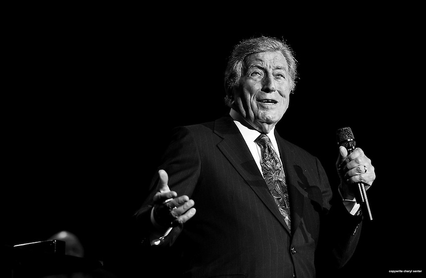 Portsmouth, N.H., Sunday, March 9, 2014: Singer Tony Bennett performs to a sold-out crowd at the The Music Hall.  Portsmouth Herald Photo Cheryl Senter