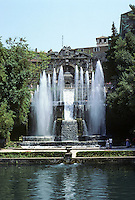 Tivoli: Villa D'Este. Fontana Del Netiuno (Neptune's Fountain). That is, the lower fountain, the one working according to Guidebook. 1927!  Photo '83.