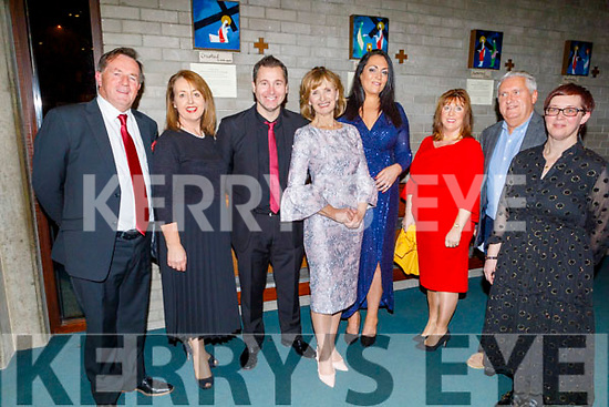George Sugrue, Geraldine Hurley, Darragh O'Simpson, Adi Roche, Noelle Barrett Neziri, Mary Sugrue, Oliver Hurley and Lucy Tanner attending the Carols for Chernobyl an evening of seasonal Music and Song in St Brendans Church on Sunday night