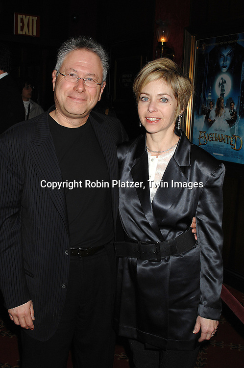 "Alan Menken and girlfriend..arriving at the special screening of ""Enchanted"" on November 19, 2007 at The Ziegfeld in New York City. ..The screening was in celebration of the movie being made in New York...Robin Platzer, Twin Images"