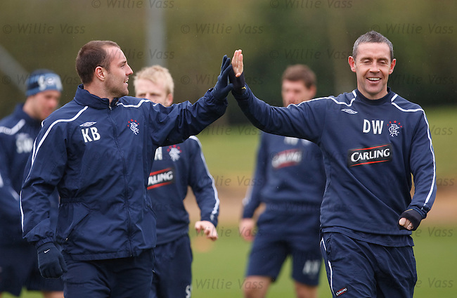 High fives from Kris Boyd and David Weir
