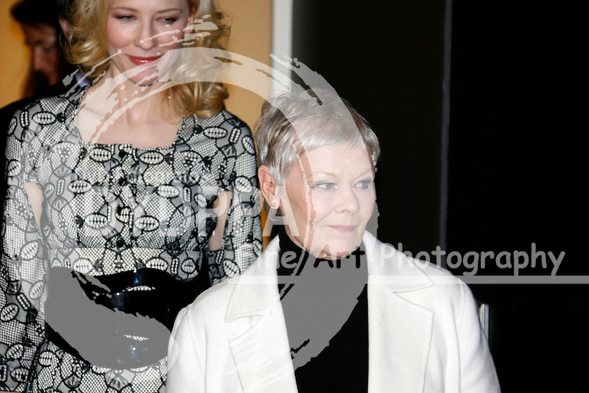 "Actresses Cate Blanchett and Judi Dench at the Berlinale 2007, 57. Internationale Filmfestspiele Berlin / 57th Berlin International Film Festival,  Photocall for ""Notes on a Scandal"""