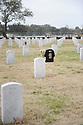 Saints fan at grave site