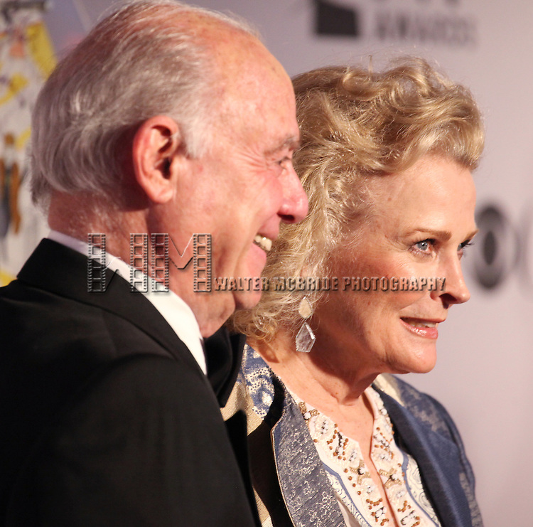 Marshall Rose and Candice Bergen pictured at the 66th Annual Tony Awards held at The Beacon Theatre in New York City, New York on June 10, 2012.