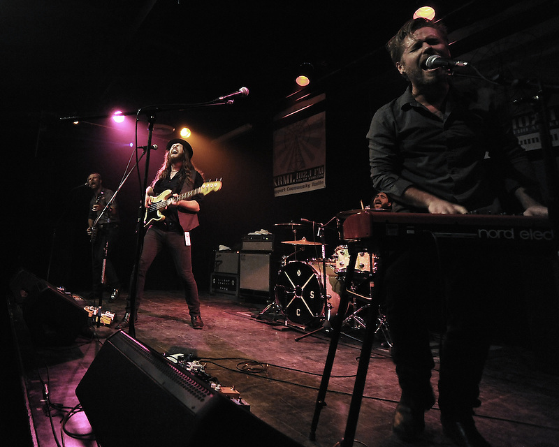 The Silent Comedy performs at Black Box Cabaret at California State University Monterey Bay in December 2014.