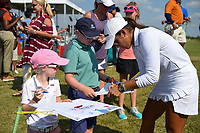 Maria Fassi (MEX) signs autographs near the green on 18 following round 3 of the Volunteers of America Texas Classic, the Old American Golf Club, The Colony, Texas, USA. 10/5/2019.<br /> Picture: Golffile   Ken Murray<br /> <br /> <br /> All photo usage must carry mandatory copyright credit (© Golffile   Ken Murray)