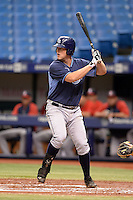 Tampa Bay Rays first baseman Casey Gillaspie (24) during an Instructional League game against the Boston Red Sox on September 25, 2014 at Tropicana Field in St. Petersburg, Florida.  (Mike Janes/Four Seam Images)