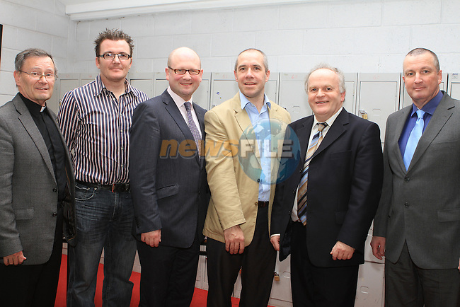 Canon Jim Carroll, Com Nally, Ged Nash, Dr.Conor McMahon, President of the Past Pupils Union Sean O Briain and Principal David Madden at the Student Awards in St Josephs Secondary School...(Photo credit should read Jenny Matthews www.newsfile.ie)....This Picture has been sent you under the conditions enclosed by:.Newsfile Ltd..The Studio,.Millmount Abbey,.Drogheda,.Co Meath..Ireland..Tel: +353(0)41-9871240.Fax: +353(0)41-9871260.GSM: +353(0)86-2500958.email: pictures@newsfile.ie.www.newsfile.ie.