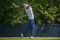 Hideki Matsuyama (JPN) watches his tee shot on 9 during 3rd round of the 100th PGA Championship at Bellerive Country Club, St. Louis, Missouri. 8/11/2018.<br /> Picture: Golffile | Ken Murray<br /> <br /> All photo usage must carry mandatory copyright credit (&copy; Golffile | Ken Murray)