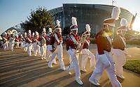 NWA Democrat-Gazette/JASON IVESTER<br /> The Razorback Band marches outside on Saturday, Sept. 24, 2016, before the game against Texas A&amp;M at AT&amp;T Stadium in Arlington, Texas.