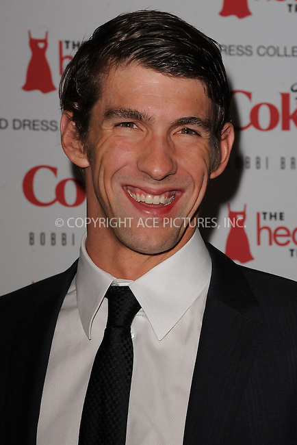 WWW.ACEPIXS.COM . . . . . .February 08, 2012...New York City....Michael Phelps attends the Heart Truth's Red Dress Collection 2012 Fashion Show at Hammerstein Ballroom on February 8, 2012 in New York City....Please byline: KRISTIN CALLAHAN - ACEPIXS.COM.. . . . . . ..Ace Pictures, Inc: ..tel: (212) 243 8787 or (646) 769 0430..e-mail: info@acepixs.com..web: http://www.acepixs.com .