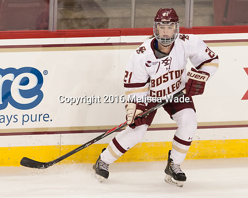 Bridget McCarthy (BC - 21) - The Boston College Eagles defeated the visiting University of Maine Black Bears 2-1 on Saturday, October 8, 2016, at Kelley Rink in Conte Forum in Chestnut Hill, Massachusetts.  The University of North Dakota Fighting Hawks celebrate their 2016 D1 national championship win on Saturday, April 9, 2016, at Amalie Arena in Tampa, Florida.