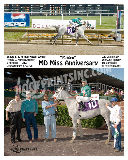 MD Miss Anniversary winning at Delaware Park on 5/23/06