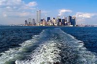 - New York, skyline of Manhattan with the twin towers of the World Trade Center, destroyed in the terroristic attack of the 11 september 2001 ....- New York, skyline di Manhattan con le torri gemelle del World Trade Center, distrutte nell'attentato terroristico dell'11 settembre 2001