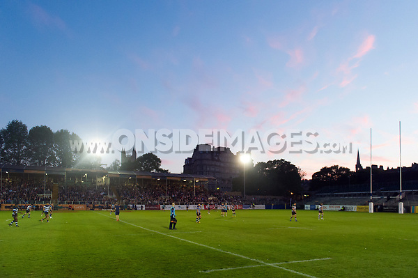 A general view of the Recreation Ground pitch. Remembrance Rugby match, between Bath United and the UK Armed Forces on May 10, 2017 at the Recreation Ground in Bath, England. Photo by: Patrick Khachfe / Onside Images