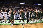 MILWAUKEE, WI - MARCH 16:  The Purdue Boilermakers and the Vermont Catamounts shake hands after the Boilermaker's 80-70 victory during the 2017 NCAA Men's Basketball Tournament held at BMO Harris Bradley Center on March 16, 2017 in Milwaukee, Wisconsin. (Photo by Jamie Schwaberow/NCAA Photos via Getty Images)
