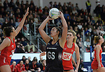 New Zealand&rsquo;s Maia Wilson in action during todays match   <br /> <br /> Swansea University International Netball Test Series: Wales v New Zealand<br /> Ice Arena Wales<br /> 08.02.17<br /> &copy;Ian Cook - Sportingwales