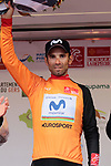 World Champion Alejandro Valverde (ESP) Movistar Team retains the race lead at the end of Stage 2 of the Route d'Occitanie 2019, running 187.7km from Labruguière to Martres-Tolosane, France. 21st June 2019<br /> Picture: Colin Flockton | Cyclefile<br /> All photos usage must carry mandatory copyright credit (© Cyclefile | Colin Flockton)