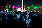Lykke Li fans watch the artist perform at the Coachella Valley Music and Arts Festival in Indio, California April 10, 2015. (Photo by Kendrick Brinson)