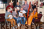 Fleadh By The Feale Launch held on Friday night in Matt McCoy's Bar Abbeyfeale Musicians at the Launch<br /> Seated L-R Mich&eacute;al Broderick, Sarah McNulty, D.J. Curtin &amp; Suzan Quill.<br /> Back: Ian Sheehy, Adrian McAuliffe, John McNulty &amp; Denis Curtin.