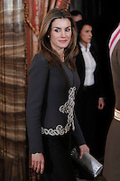 Princess Letizia of Spain attend the traditional 'Pascua Militar' ceremony at The Royal Palace. January 06, 2013. (ALTERPHOTOS/Caro Marin)