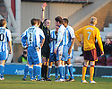 09/02/2008    Copyright Pic: James Stewart.File Name : sct_jspa10_motherwell_v_kilmarnock.DAVID LILLEY IS SENT OFF.James Stewart Photo Agency 19 Carronlea Drive, Falkirk. FK2 8DN      Vat Reg No. 607 6932 25.Studio      : +44 (0)1324 611191 .Mobile      : +44 (0)7721 416997.E-mail  :  jim@jspa.co.uk.If you require further information then contact Jim Stewart on any of the numbers above........