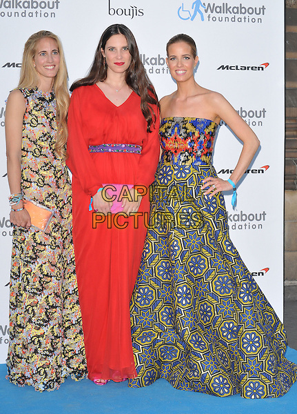 LONDON, ENGLAND - JUNE 27: Adriana Chryssicopoulos, Tatiana Casiraghi &amp; Carolina Gonzalez Bunster attend the Walkabout Foundation's Inaugural Gala, Natural History Museum, Cromwell Rd., on Saturday June 27, 2015 in London, England, UK. <br /> CAP/CAN<br /> &copy;Can Nguyen/Capital Pictures