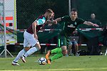 28.07.2017, Sportplatz, Schneverdingen, GER, FSP SV Werder Bremen (GER) vs WestHam United (ENG), <br /> <br /> im Bild<br /> Marco Arnautovic (WestHam)<br /> Niklas Schmidt (Werder Bremen #38)<br /> <br /> Foto &copy; nordphoto / Kokenge