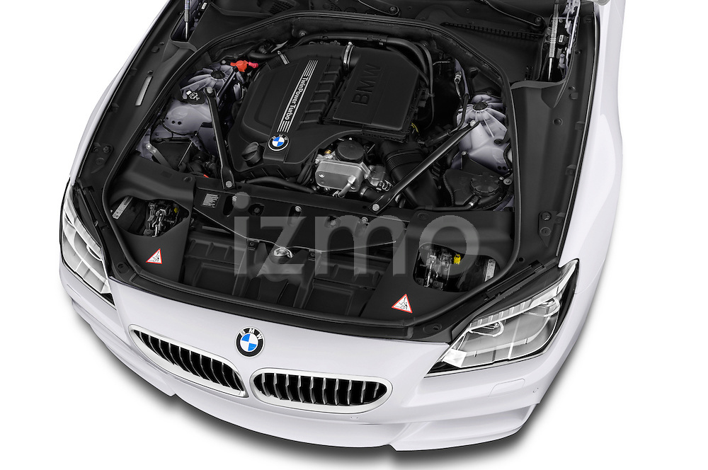 High angle engine detail of a 2012 Bmw SERIES 6 Gran Coupe 640i 4 Door Sedan 2WD