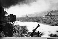 BNPS.co.uk (01202 558833)<br /> Pic Lawrences/BNPS<br /> <br /> Incredible photograph of the ignominious surrender of the German High Seas Fleet in 1918 -as they are being shepherded between the British fleet up to Scapa Flow.<br /> <br /> Fascinating early photos of submarine warfare featuring close quarters views of German battleships have come to light 100 years later.<br /> <br /> The photo albums were collated by British Commander Maurice Bailward who documented every stage of his naval career.<br /> <br /> Cmdr Bailward attended Royal Naval College in Osborne, Isle of Wight, from 1906 and 1908, the same time as Edward, the Prince of Wales.<br /> <br /> He was involved in many of the major sea battles of World War Two as well as the British effort to help the Whites during the Russian Civil War of 1919.<br /> <br /> The albums have emerged for sale at auction from a family descendant with Lawrences Auctioneers, of Crewkerne, Somerset.
