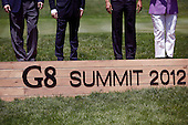 G8 leaders pose for a group photo during the 2012 G8 Summit at Camp David May 19, 2012 in Camp David, Maryland. Leaders of eight of the worlds largest economies meet over the weekend in an effort to keep the lingering European debt crisis from spinning out of control. .Credit: Luke Sharrett / The New York Times / Pool via CNP