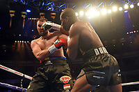 Daniel Dubois (silver gloves) defeats Razvan Cojanu during a Boxing Show at the Royal Albert Hall on 8th March 2019