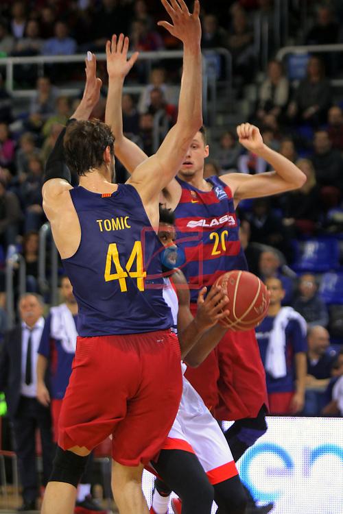 League ACB-ENDESA 2016/2017 - Game: 21.<br /> FC Barcelona Lassa vs ICL Manresa: 92-72.<br /> Ante Tomic, Scott Suggs &amp; Markus Eriksson.