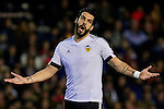 Alvaro Negredo of Valencia CF reacts - UEFA Champions League Group H - Valencia CF vs Olympique Lyonnais - Mestalla Stadium - Valencia- Spain - 09th December 2015 - Pic David Aliaga/Sportimage