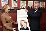 Kate Burton and Max Klimavicius attend the Sardi's Caricature Unveiling for Kate Burton joining the Legendary Wall of Fame at Sardi's on June 28, 2017 in New York City.