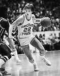 Danny Ainge Drives against SDSU.BKB 607C 9..Jan 8, 1981..Photo by Mark A. Philbrick/BYU