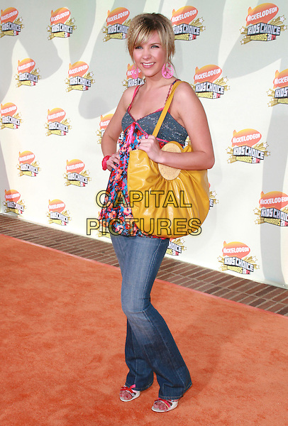 KRISTY FRANK.20th Annual Nickelodeon Kids' Choice Awards held at UCLA's Pauley Pavilion, Westwood, California, USA..March 31st, 2007.full length yellow bag purse jeans pink earrings top crimped hair floral print top denim.CAP/ADM/CH.©Charles Harris/AdMedia/Capital Pictures