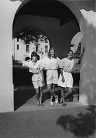 1987: Charlie Turner, Kami Anderson and Leslie Crandell.