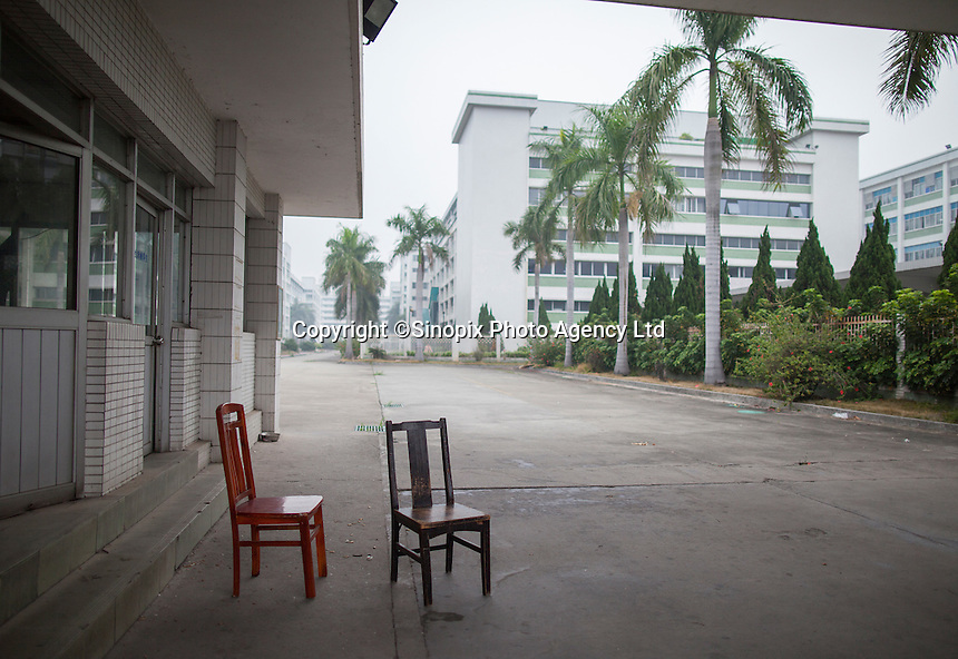 A closed section of the Yue Yuen Industrial Holdings Limited factory in Dongguan, Guangdong Province, China, 03 March 2015.