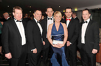 Robert Lahiff, Brian Maher, Timmy Clifford, Roisin Hamill, Brian Quill and John O'Sullivan, Coca Cola,  at the Irish Hotels Federation Conference Gala Dinner in The Malton Hotel, Killarney on Tuesday night. Picture: MacMonagle, Killarney
