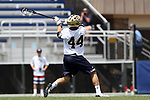 DURHAM, NC - APRIL 30: Notre Dame's Bobby Gray. The University of North Carolina Tar Heels played the University of Notre Dame Fighting Irish on April 30, 2017, at Koskinen Stadium in Durham, NC in a 2017 ACC Men's Lacrosse Tournament Championship match. UNC won the game 14-10.