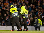 20.02.2020 Rangers v SC Braga: Pitch invader removed after the third Rangers goal