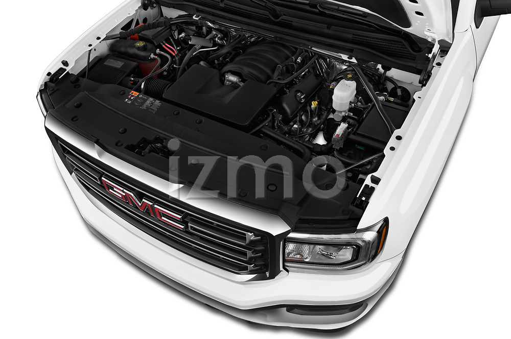 Car stock 2019 GMC Sierra 1500 Limited Base 4 Door Pick Up engine high angle detail view