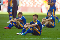 Shrewsbury players after the Sky Bet League 1 Play Off FINAL match between Rotherham United and Shrewsbury Town at Wembley, London, England on 27 May 2018. Photo by Andrew Aleksiejczuk / PRiME Media Images.